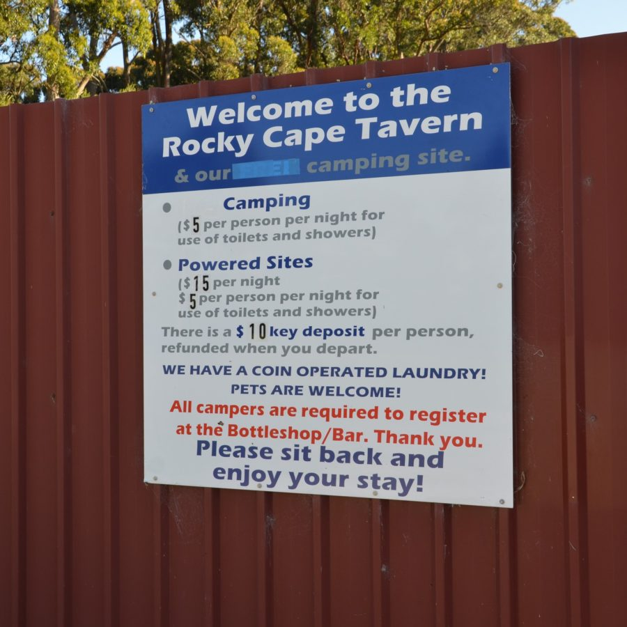 camping rocky cape tavern